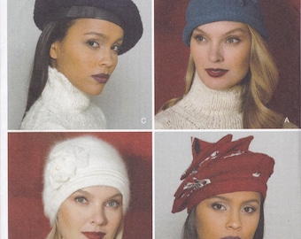 FREE US SHIP Vogue 9235  Designer Kathryn Brenner Sewing Pattern Beret Cap Fashion Hats Glamour Beret  Uncut new