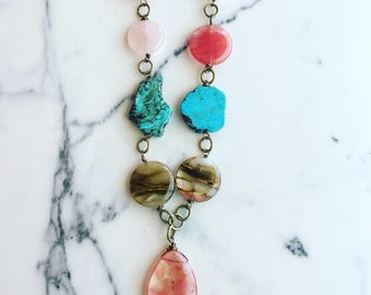 Mixed Element Statement Necklace