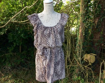Funky animal print , light weight drawstring dress