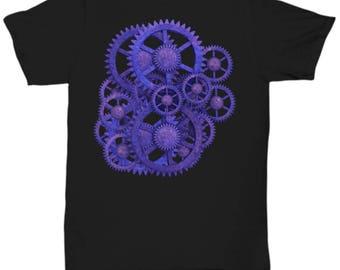 Glowing Gears Steampunk T-Shirt