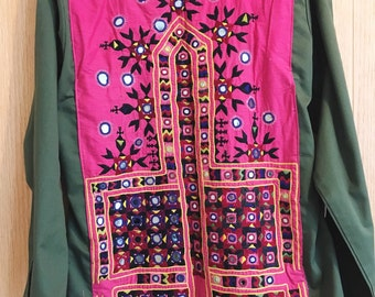 Jamna Army Jacket One of a kind vintage embellished army jacket