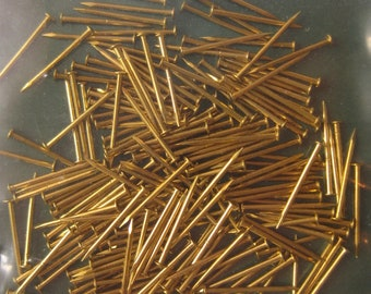 12mm Brass Pins - Pack of 200
