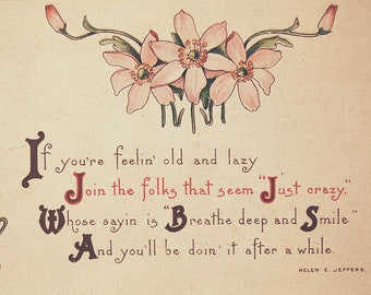 Antique Postcard circa 1910s Helen E Jeffers