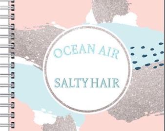 Bundle 2 - Ocean Air Salty Hair notebook & pen