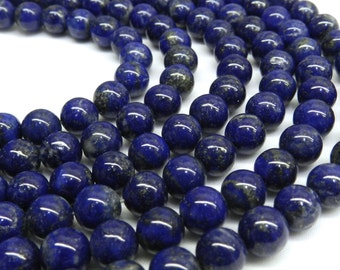 Lapis Beads, Lapis Lazuli, 8mm Beads, Ultramarine, Blue Beads, Dark Blue Beads, Blue Gemstone Beads, Blue Gemstone, 10mm Beads, 8mm Gemstone