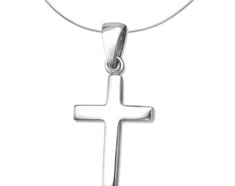 Silver Cross Pendant Charm
