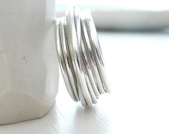 Crossover Contemporary Sterling Silver Ring by Stilosissima California