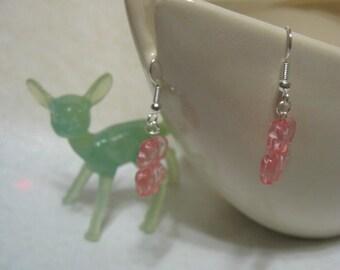 Super Cute Pink Elephant Earrings