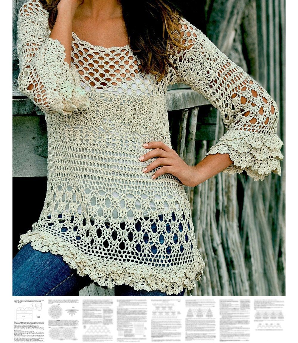 Crochet tunic pattern for sizes s 2xl detailed tutorial in zoom bankloansurffo Image collections