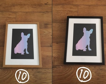 Frenchie SiIlhouette Prints