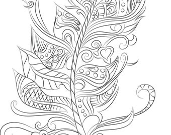 Feather Design Instant Digital Download