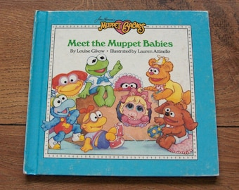 vintage 80s Muppet Babies Meet the Muppet babies   children muppets weekly reader guc