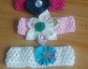Headbands set of 3 - baby girl