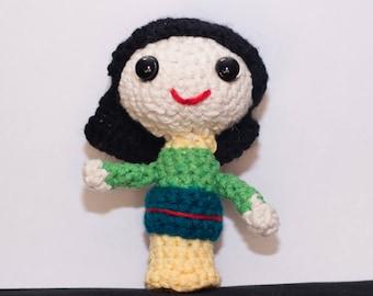 Small Mulan Crochet Doll Amigurumi Disney Princess