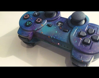PS3 Controller Cosmic Space Theme Design