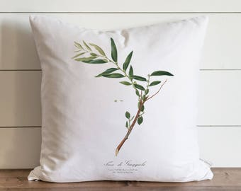 Botanical Olive Branch 20 x 20 Pillow Cover // Everyday // Gift // Accent Pillow