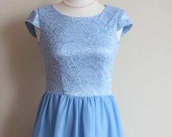 Short blue dress Blue bridesmaid dress Pastel blue bridesmaid dress Pale Blue dress bridesmaid Short bridesmaid Blue  dress Niagara dress