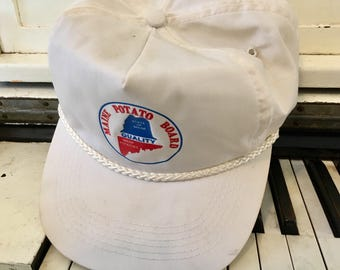"Vintage, Baseball Cap, Trucker Hat,  ""Maine Potato Board, State Of Maine Quality Maine Potatoes, Adjustable"