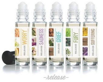 "Affirmation Rollerball Essential Oil Blends - ""Release"" Mood Series (10ml)"