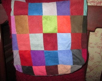 Ultra-Suede, Patchwork Tote/Shoulder-Bag
