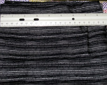 """BLACK & WHITE STRIPES Poly  Woven Fabric 1 3/4 yds x 51"""" wide"""