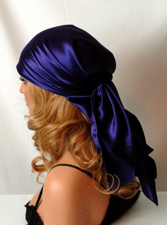 Silk Scarf Hair Scarf For Day Or Sleep Head Covering Pure