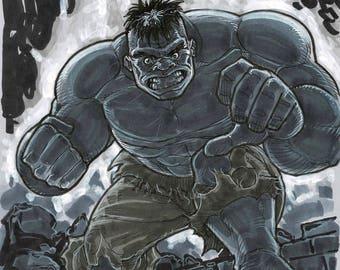 THE HULK - by comic book artist Blair Shedd