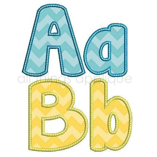 Happy applique alphabet 26 letters upper and lower 3 zoom pronofoot35fo Image collections