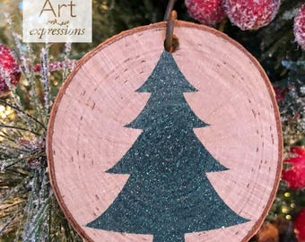 GREEN Christmas Tree Rustic Ornament | Reclaimed Wood Christmas Ornament | Hostess Gift