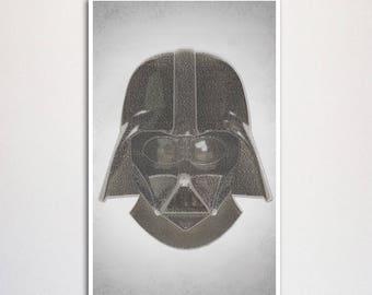Star Wars word art poster