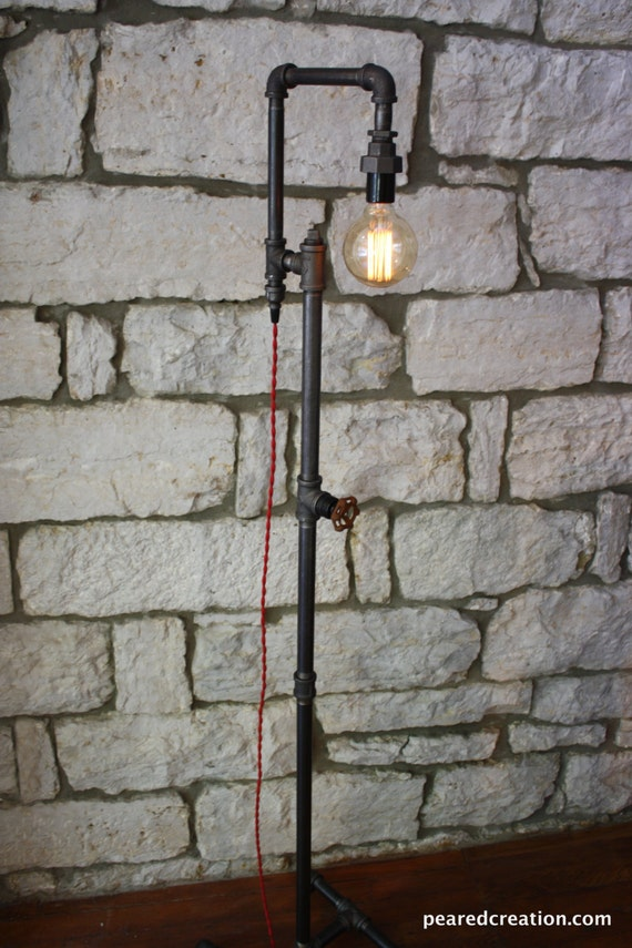 Edison Bulb Floor Lamp   Industrial Style   Bare Bulb Light   Steampunk  Lamps