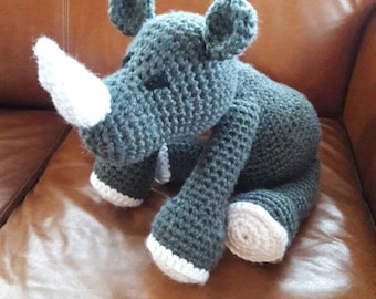 Crocheted Rhino