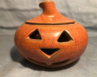 Vintage Halloween Jack-O-Lantern candle holder