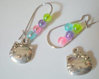 Kit Earrings * HELLO K * silver plated hooks