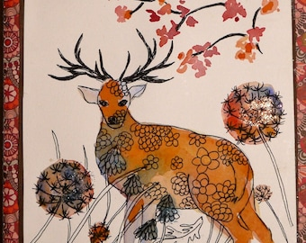 """Art, diary, hand made book"" the big deer """
