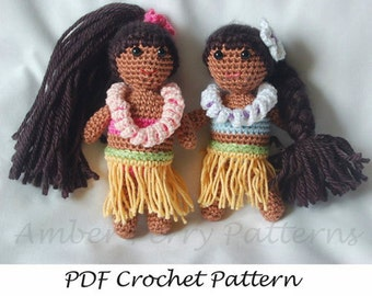 PDF Pattern - Easy Crochet Hula Dolls