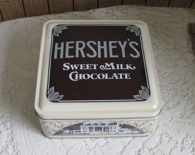 Vintage Hershey Tin 1912 Vintage Edition #1 Replica 1990 Buildings Hershey Chocolate