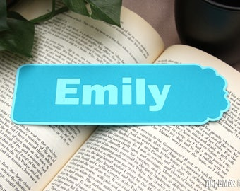 Personalized Name Bookmark, Valentine's Day, Book Club Gift, Book Lover Gift, Reader Gift, Birthday Gift, Unique Gift, Custom Bookmark