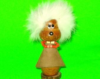 Vintage Furry Beaver Kitschy Curio Figurine
