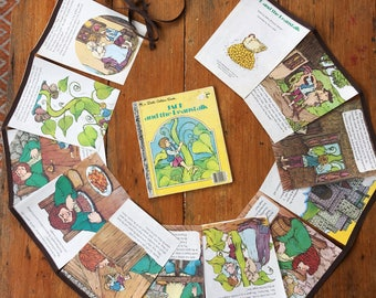 little golden book bunting - jack and the beanstalk