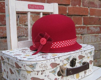 Handmade Cloche Style Hat For Girls