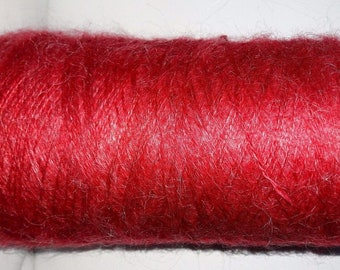 Beautiful cone wool 35% mohair/500 g /rouge/ made in France