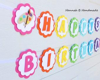 Art Birthday Banner   Painting Birthday Banner