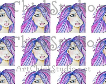 BeYOUtiful Square Stickers 1-1/2in PDF Instant Download