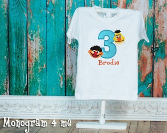 Bert and Ernie Birthday Shirt, Sesame street birthday