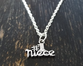 Niece Necklace, Niece Charm, Niece Pendant, Niece Jewelry, Gift for Niece, Aunt Niece Jewelry, Necklace for Niece, Special Niece Necklace