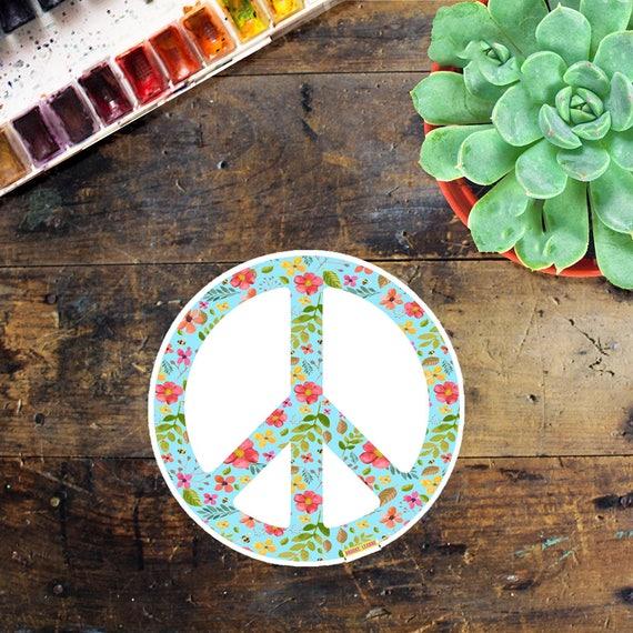 Peace Flower Sign Sticker - Laptop Sticker - Window Decal - Notebook Sticker - Phone Sticker - Peace Sign Sticker - Outside sticker