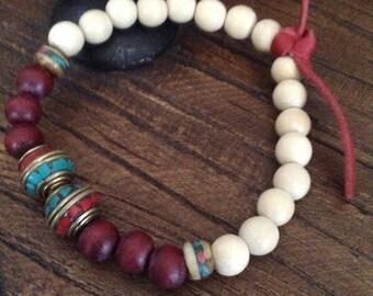 Two colors wood bracelet
