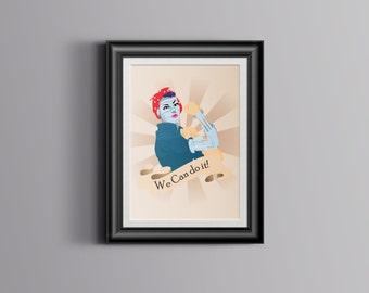Robot Rosie the Riveter