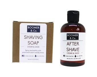 Cedar and Sage Shaving Kit